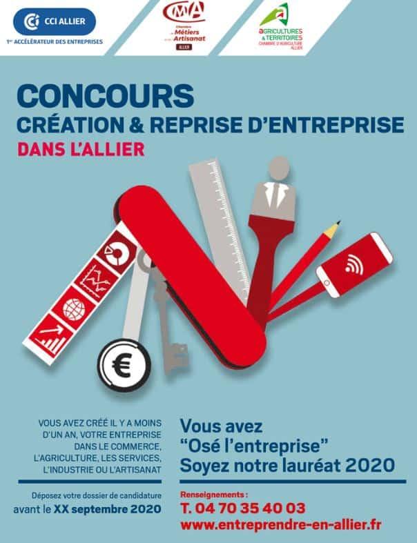 Concours Création & Reprise d'Entreprise dans l'Allier 2020